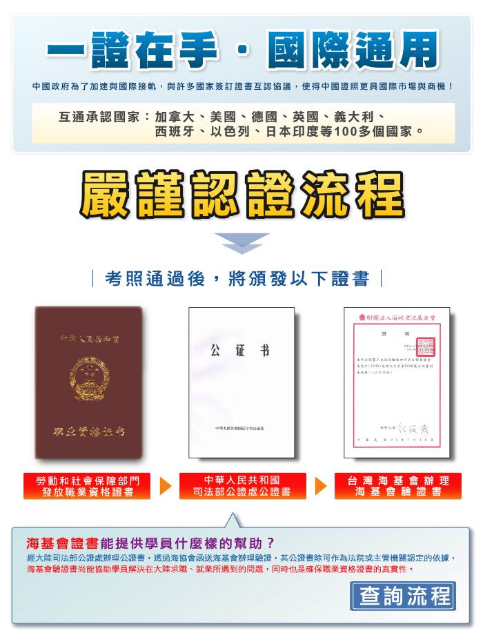 中國大陸國際證照驗證流程